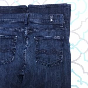 "💙👖BEAUTIFUL! 7FAM HIGH WAIST👖💙26 1/2 32"" DARK!"